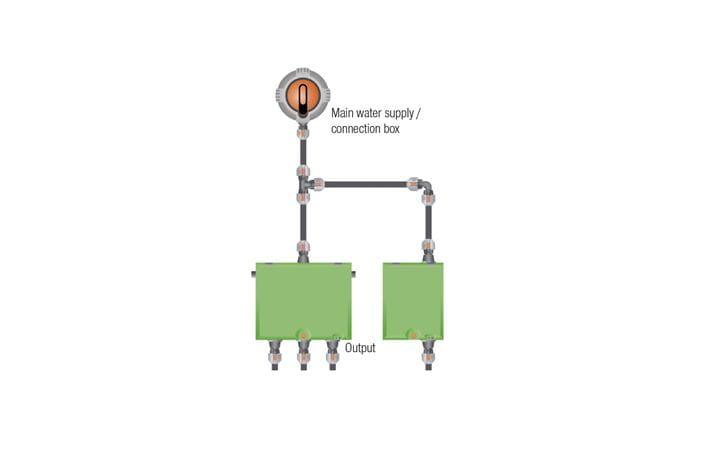Combining V3 valve box with V1 valve box