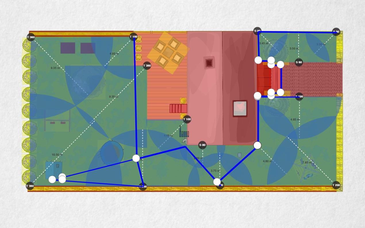 Automatic sprinkler system planner