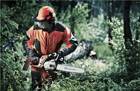 Protective equipment for chainsaws