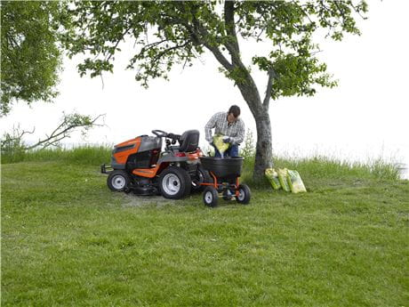 Husqvarna Garden Tractor with spreader attachment