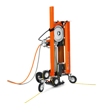 Diamond wire saw CS 10 powered by high-frequency electric wall saw unit Husqvarna WS 482 HF or 440 HF.