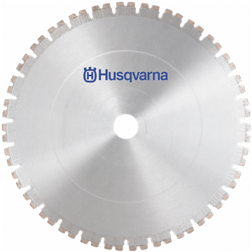 Husqvarna wall sawing blades with Diagrip™ technology enables faster, smoother cutting in heavily reinforced concrete.