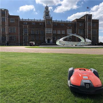 Hatfield House Automower Installation Front Lawn