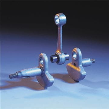 Three piece crank shaft
