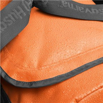 Duffel bag material close up