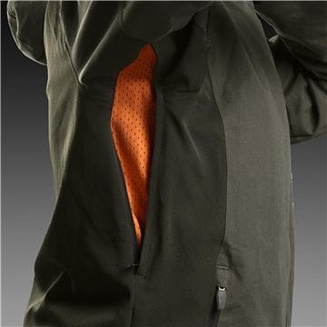 Ventilation zipper under arm, shell jacket men