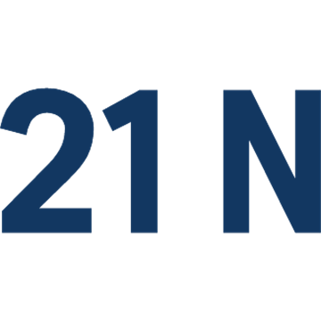 21 N - blue
