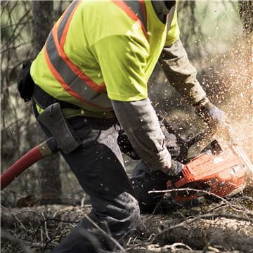 Chainsaw logger with 572 XP