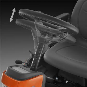 Easy adjustment of the steering wheel
