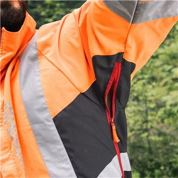 Zipper under Sleeves , High Viz Jacket, Technical