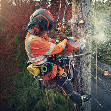 Arborist with top handle chainsaw T540iXP