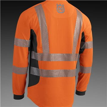 Work T-Shirt, High Viz, Technical LS, Extented Back