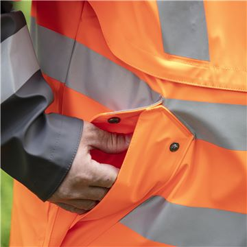 Rain Jacket Protect High-Viz, Functional, Pockets with Flap Closure