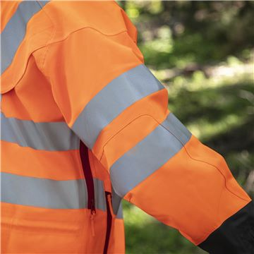 Rain Jacket Vent High-Viz, Technical, Reinforced Shoulders and Elbows
