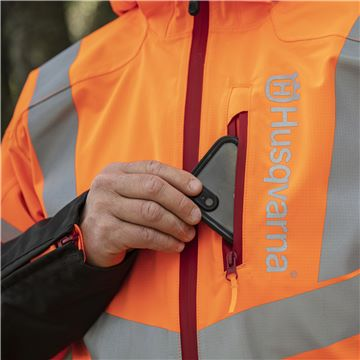 Rain Jacket Vent High-Viz, Technical,  Mobile Pocket