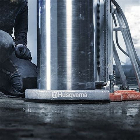 Husqvarna's new slurry rings are ideal to keep tough drilling jobs clean and tidy.