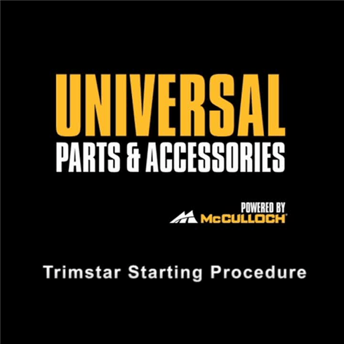 How to - Start your petrol grass trimmer or brush cutter.