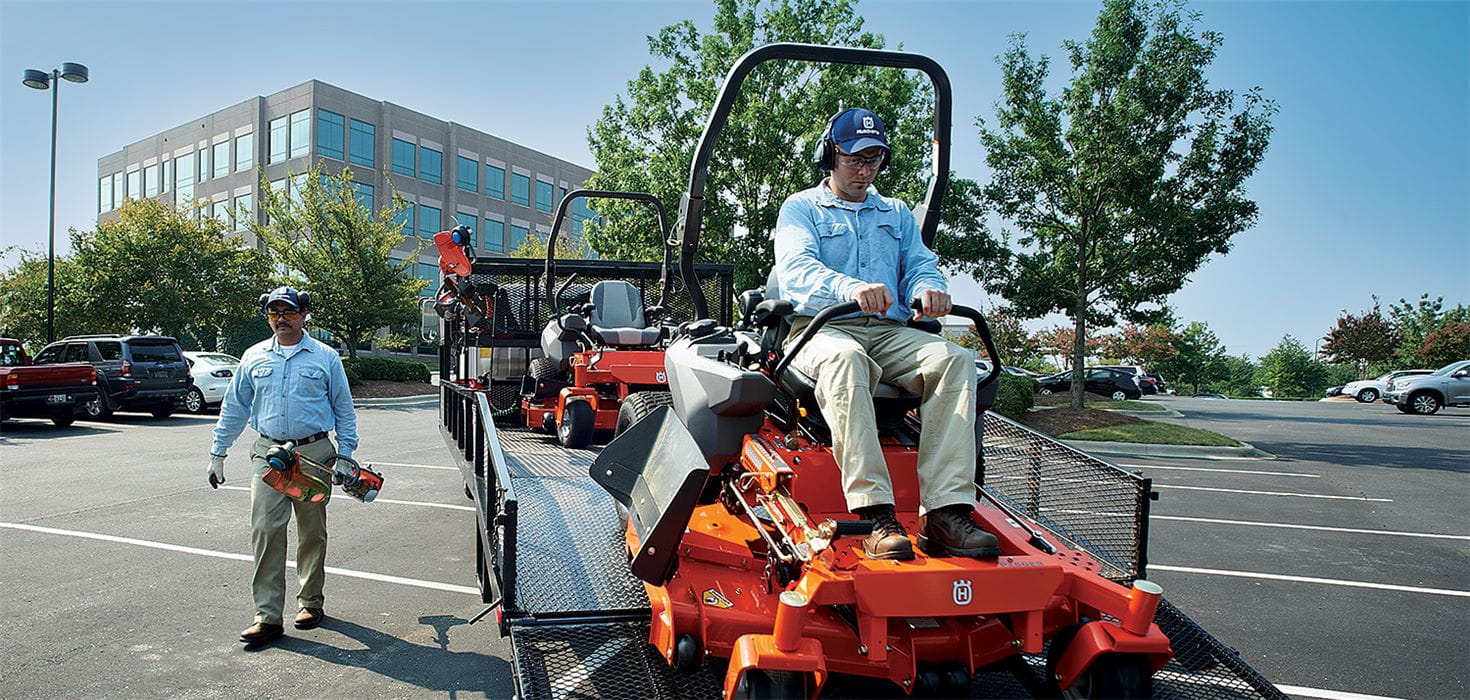 Husqvarna commercial zero turn mowers, weed trimmers, and blowers