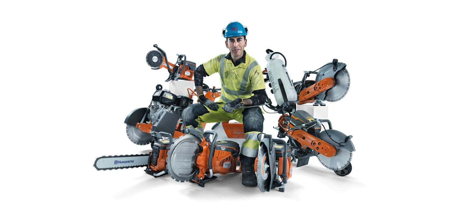 Husqvarna has the widest range of handheld power cutters on the market, containing no less than 20 different models, with cutting depths up to 450 mm.