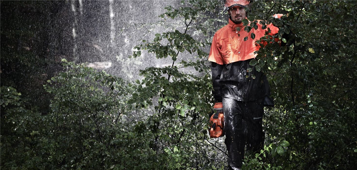 Husqvarna workwear rain clothes