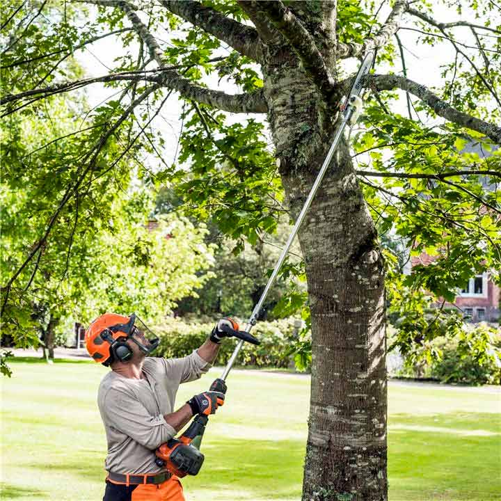 A Husqvarna Pole Saw is easy to start