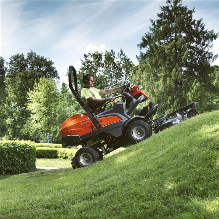 Husqvarna Front Mowers can manage steep hillsides