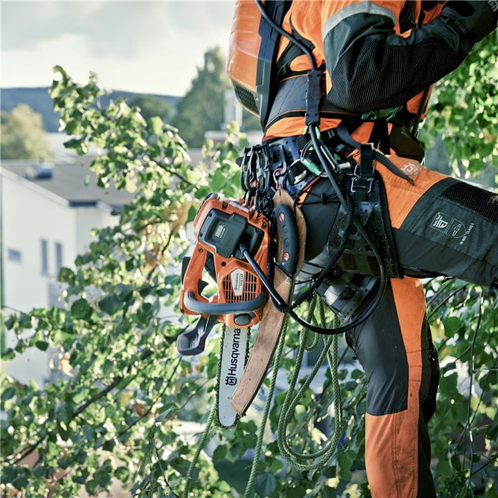 Husqvarna's battery driven chainsaws are quiet, highly efficient and lightweight
