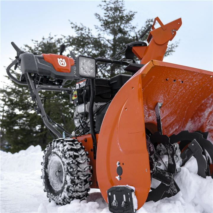 Husqvarna Snow Throwers are built to handle hard-packed snow