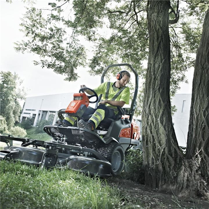 Husqvarna Front Mowers can be used for different tasks all year around.