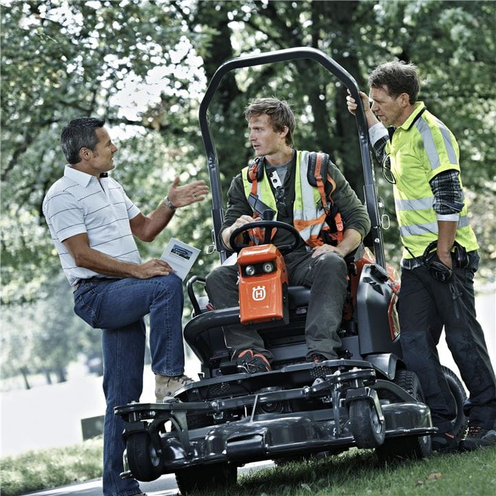 Husqvarna Front Mowers are easy to use and serve