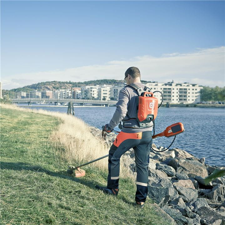 Husqvarnas battery driven grass trimmers will get the toughest jobs done