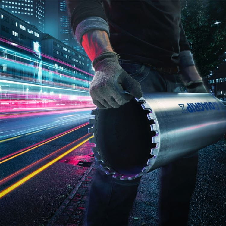 Husqvarna Diagrip is a leading-edge technology for diamond tools, enabling outstandingly durable and fast-cutting drill bits.