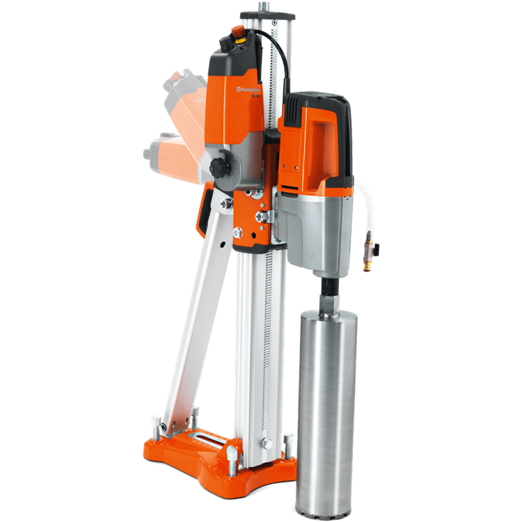 Husqvarna AD 10 can be mounted in any angle on the drill stand to feed the drilling automatically.