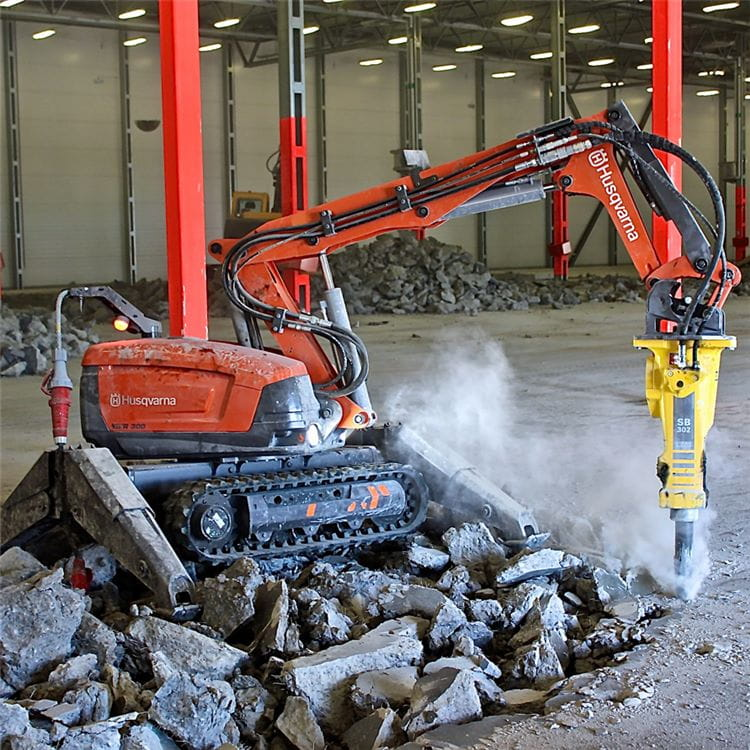 Husqvarna's DXR 300 can be used in a wide range of demolition projects.