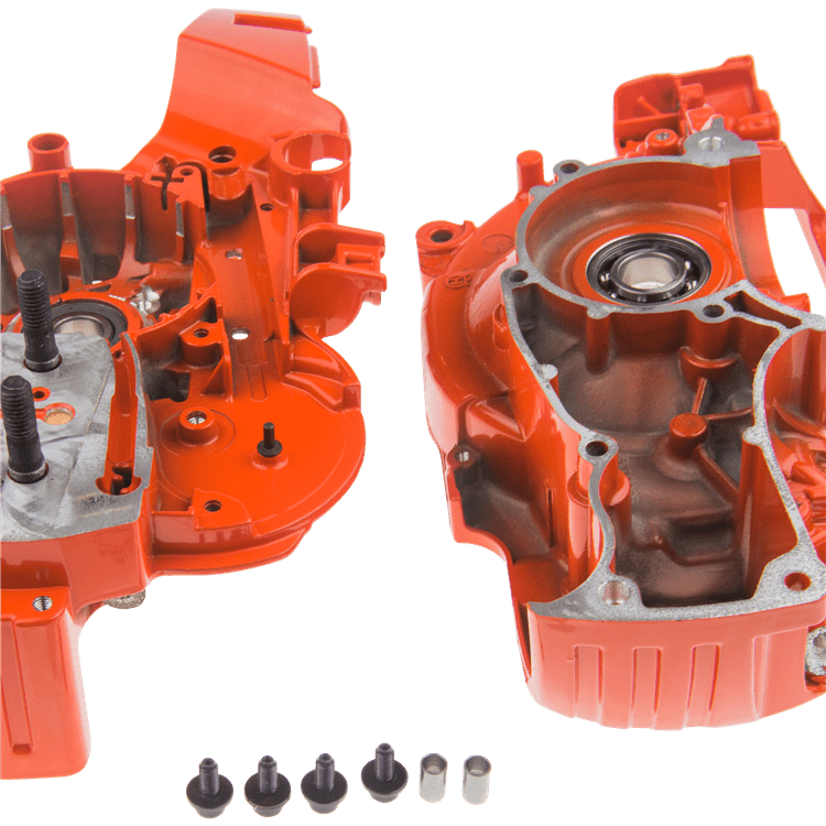 CRANKCASE ASSY  ORANGE SPARE PART