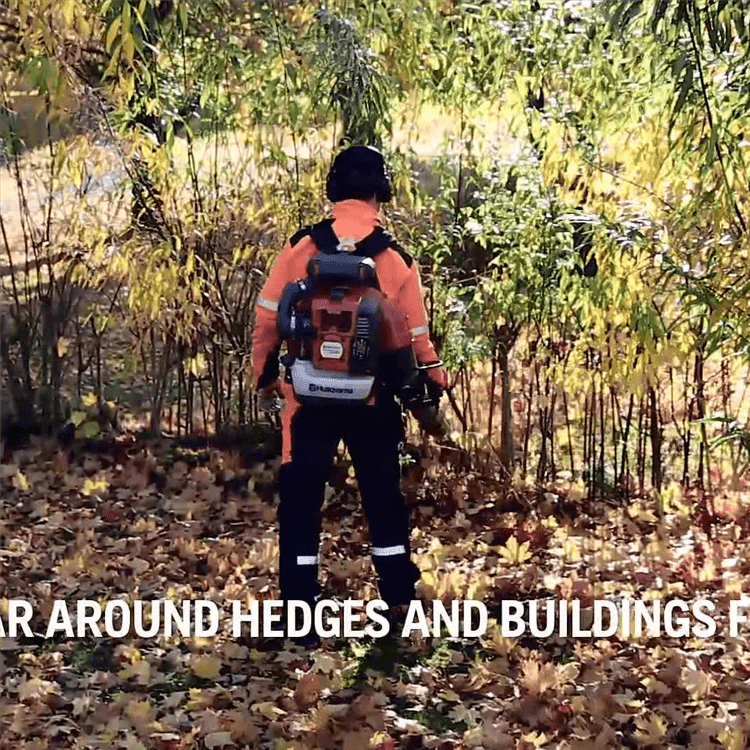 How to work with a leaf blower (570BTS)