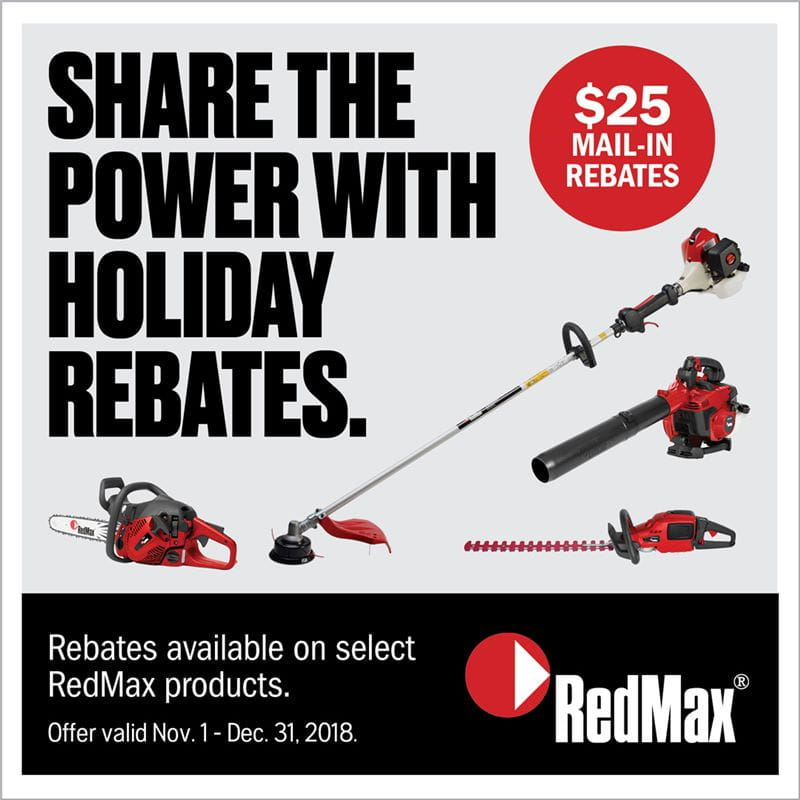 Holiday Handheld Product Rebates - RedMax Products