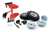 Double plough w. rubber wheels and weights kit