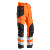 Brushcutting & Trimming trousers, front High-viz