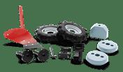 犁。橡胶车轮和重量工具