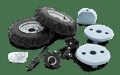 橡胶轮和重量套件
