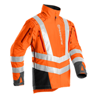 Brushcutting & Trimming jacket, front High-viz