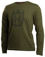 T-shirt long sleeve solid, Bark camo logo front