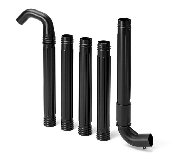 Gutter cleaner attachment, Gutter kit