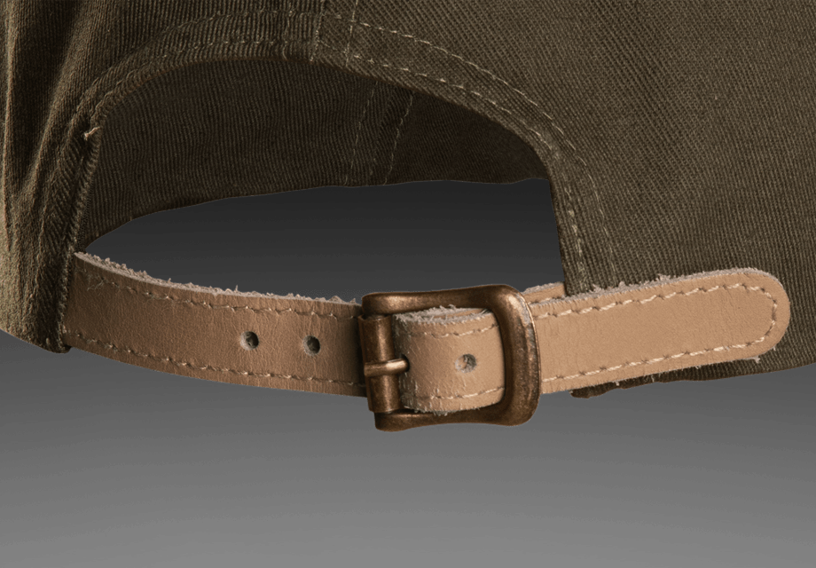 Leather band for cap