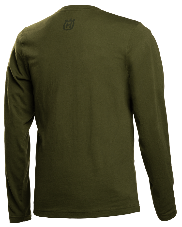 T-shirt long sleeve solid, Bark camo logo, back