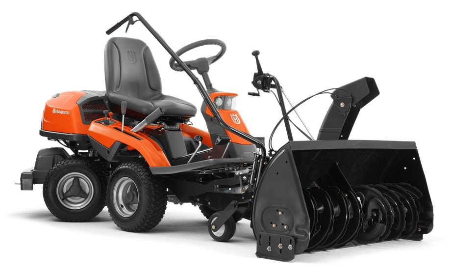 Rider 300 with snow thrower