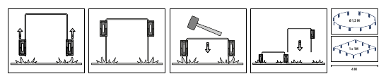 Automower Temporary Fence Illustration