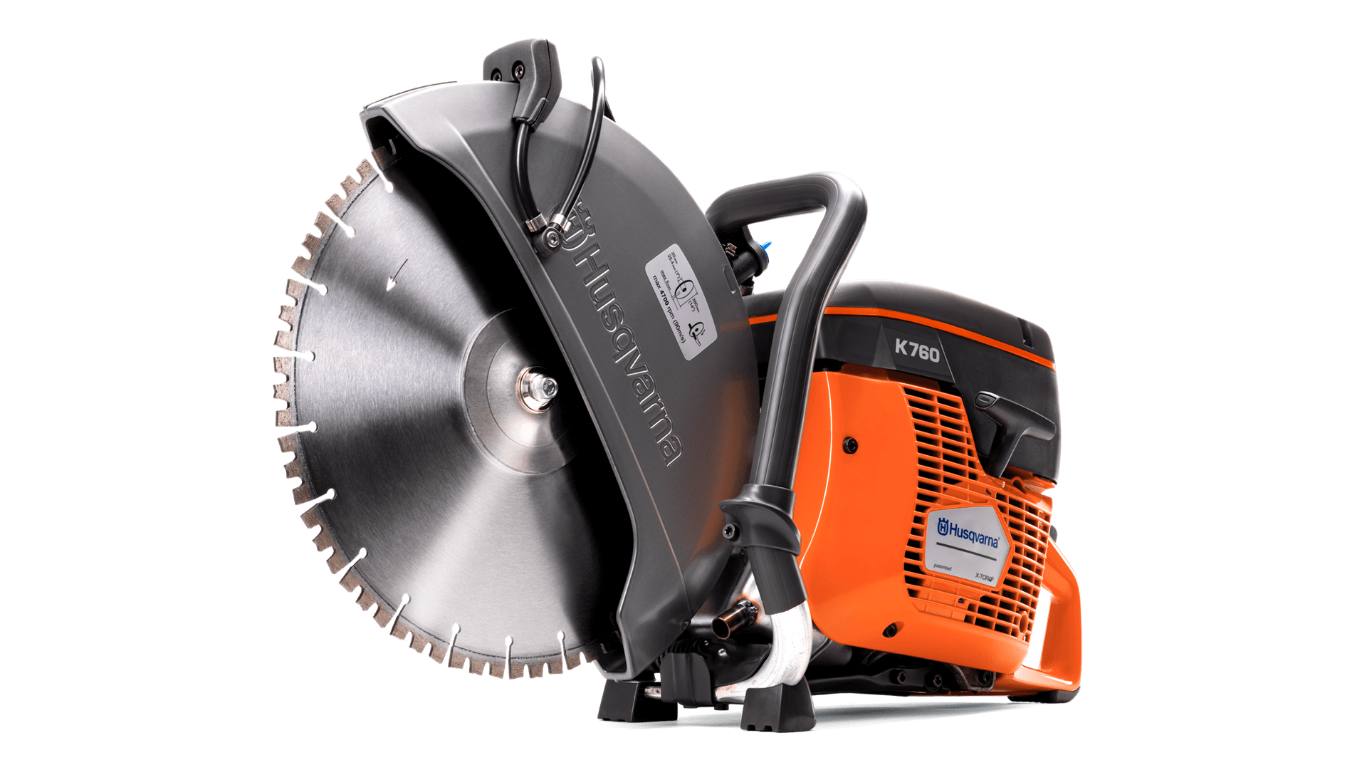 Handheld petrol cut-off concrete saw Husqvarna K 760 power cutter.