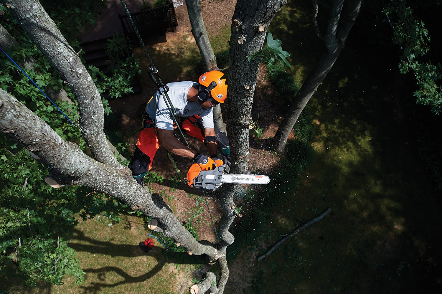 Husqvarna professional commercial chainsaws for arborists and tree care workers